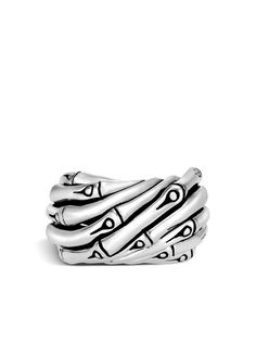 John Hardy серебряное кольцо Bamboo