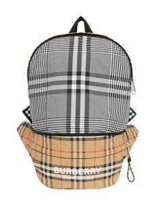 Burberry Kids рюкзак-трансформер из ткани ECONYL® в клетку Vintage Check