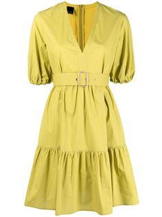 Pinko ярусное платье с V-образным вырезом