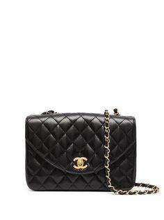 Chanel Pre-Owned стеганая сумка через плечо 1990-х годов