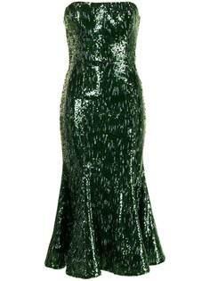 Semsem приталенное платье с пайетками