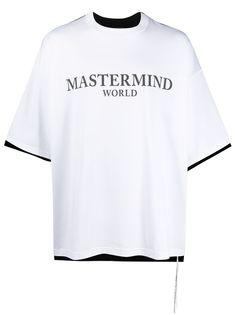 Mastermind World футболка оверсайз с контрастной вставкой
