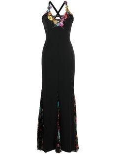 A.N.G.E.L.O. Vintage Cult вечернее платье 2000-х годов с цветочной аппликацией