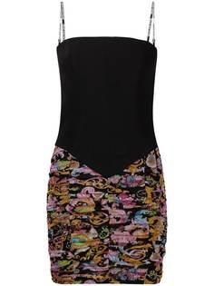 Versace Jeans Couture приталенное платье на тонких бретелях