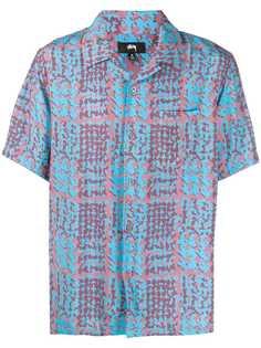 Stussy рубашка с принтом