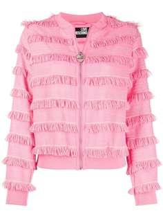 Love Moschino куртка на молнии с бахромой