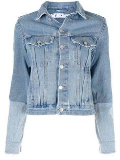 Off-White джинсовая куртка со вставками