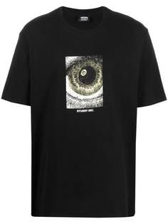 Stussy футболка с логотипом и принтом