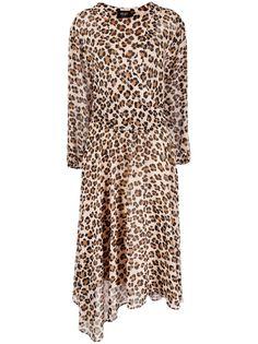 LIU JO платье асимметричного кроя с леопардовым принтом