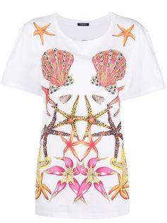 Versace футболка с принтом Trésor de la Mer и камнями