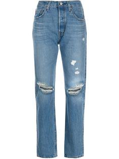 Levis джинсы 501 с эффектом потертости