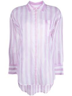 MSGM полупрозрачная рубашка в полоску