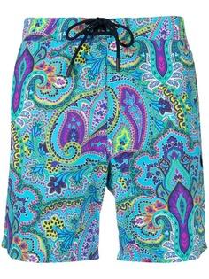 Etro плавки-шорты с принтом пейсли
