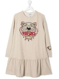Kenzo Kids платье-толстовка Chinese New Year Tiger