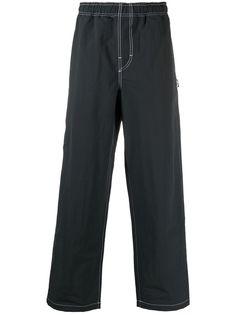 Stussy брюки с эластичным поясом и вышитым логотипом