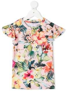 Molo футболка с круглым вырезом и цветочным принтом