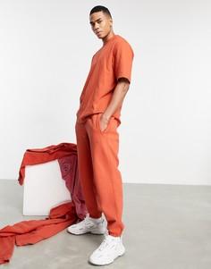"""Окрашенные джоггеры выгоревшего оранжевого цвета adidas Originals """"Premium Sweats""""-Оранжевый цвет"""