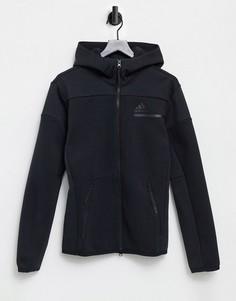 Куртка с капюшоном черного цвета adidas Training ZNE-Черный цвет