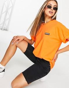 Оранжевая футболка с нашивкой Napapijri-Оранжевый цвет