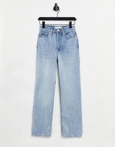 Голубые выбеленные джинсы Topshop Kort-Голубой