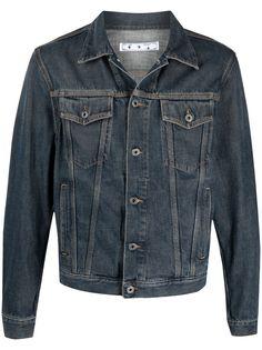 Off-White джинсовая куртка с логотипом