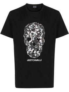 Just Cavalli футболка с короткими рукавами и принтом Skull