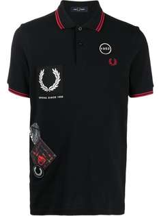 FRED PERRY рубашка поло с нашивкой-логотипом