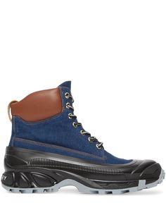 Burberry ботинки на контрастной подошве