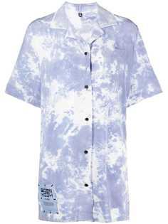 MCQ платье-рубашка Eden High с принтом тай-дай