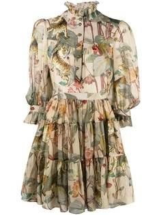 Etro расклешенное платье с принтом