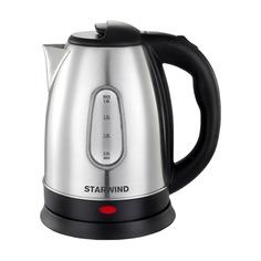 Чайник электрический STARWIND SKS1060, 1500Вт, серебристый