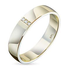 Кольцо из золота с бриллиантом э0301кц10153700 ЭПЛ Якутские Бриллианты