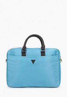 "Сумка Guess для ноутбука 15"" Nylon computer bag with Triangle metal logo Light blue"