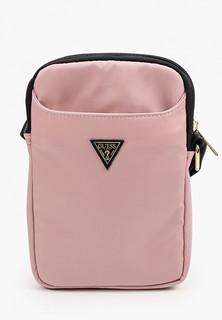 "Сумка Guess Сумка для планшетов 8"" Nylon Tablet bag with Triangle metal logo Pink"