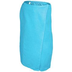 Вафельная накидка для женщин Банные штучки 145x78 см голубая