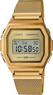 Японские женские часы в коллекции Vintage Женские часы Casio A1000MG-9EF