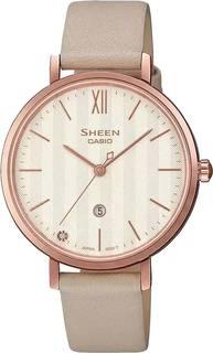 Японские женские часы в коллекции Sheen Женские часы Casio SHE-4539CGL-7AUDF
