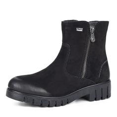 Ботинки Черные ботинки из велюра на рифленой подошве Rieker