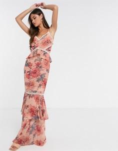 Платье макси с годе и цветочным принтомHope& Ivy-Розовый цвет