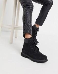 Черные ботинки на шнуровке премиум-класса Timberland-Черный цвет