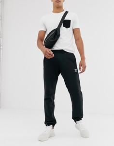 Черные джоггеры с логотипом adidas Originals essentials-Черный цвет