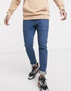 Светло-синие зауженные джинсы, тянущиеся в 4 направлениях Levis 510-Голубой