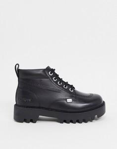 Черные ботинки на массивной подошве Kickers Kizzie High-Черный