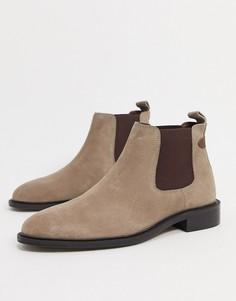 Серые замшевые ботинки челсиDune Cranbrey-Серый