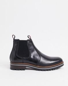 Черные ботинки челси из вощеной кожи Base London Hadrian-Черный