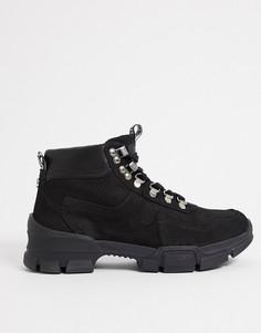 Черные массивные ботинки Steve Madden Ovvar-Черный