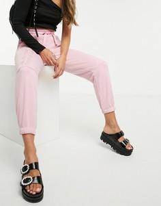 Розовые свободные джоггерыBershka-Розовый цвет