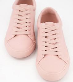 Бежевые кроссовки для широкой стопы на шнуровке ASOS DESIGN Demi-Бежевый