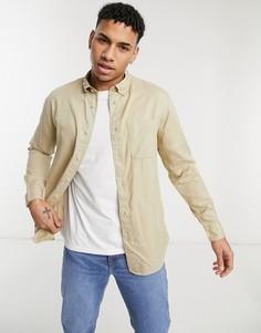 Бежевая рубашка Selected Homme-Бежевый