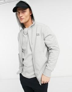 Свитшот намолнии с капюшоном Selected Homme Corey-Серый